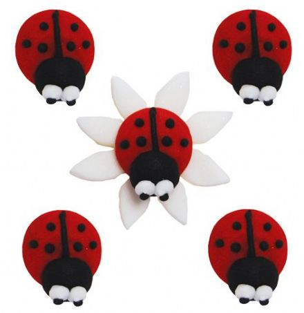 Ladybird Sugar Decorations